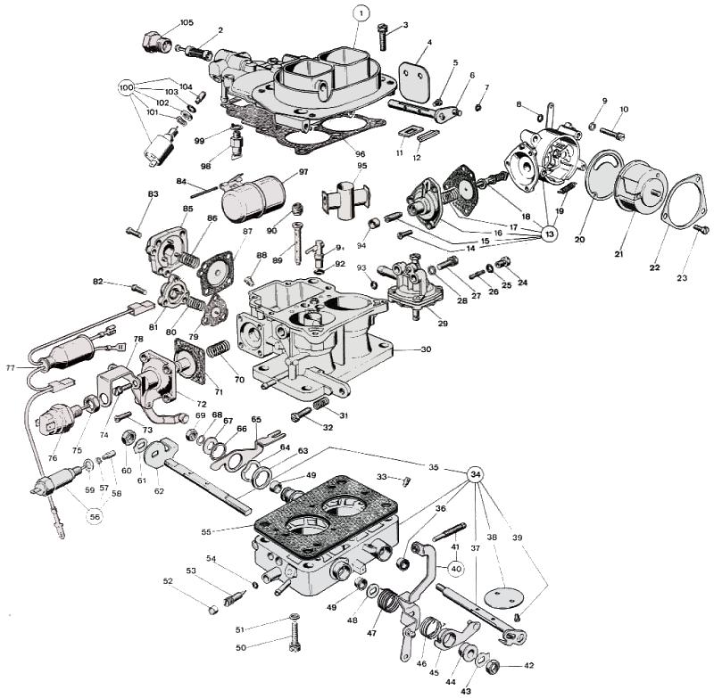 WEBER 34 ADM 0 parts diagram